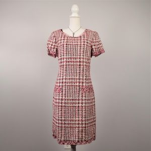 Oscar de la Renta Runway Check Tweed Dress